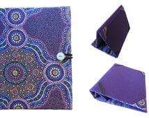 Kindle Fire Case, Kindle Paperwhite Cover, Kindle Voyage Case, Kindle Fire HD Case, Nook Glowlight, Purple Australian Aboriginal