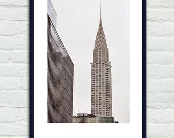 New York City decor, New York skyscraper wall art Chrysler Building, city art print, nyc architecture large photography print vertical art