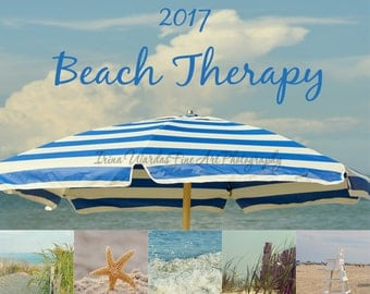 50%off: 2017 calendar, desk photo calendar, ocean theme prints 5x5 4x4, beach photography, calendar 5x7 nautical art coastal wall art decor