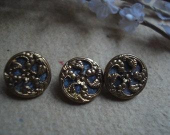 French Metal  Buttons | Art Nouveau | Fleamarketbuzz