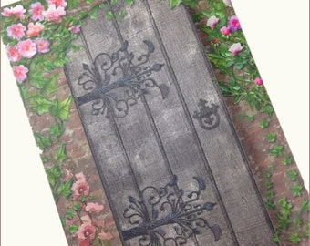 Secret Garden Wedding Invitation, Romantic Wedding Invitation, Rose Wedding invitation, Garden Gate Wedding Invitation  SAMPLE