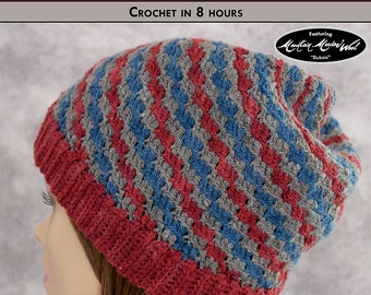TWILL TORNADO Child, Youth & Adult Crochet Hat Pattern [Digital File Download]