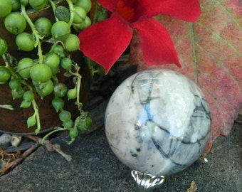 Picasso Jasper Sphere - The Stone for Grounding and Calming