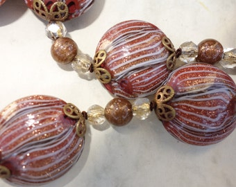 Stunning Vintage MURANO GLASS beads from before 1960