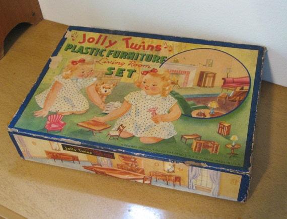 jolly twins living room set 222 in original box renwal. Black Bedroom Furniture Sets. Home Design Ideas