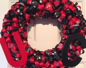 Handmade University of Cincinnati Ribbon Wreath