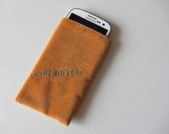 """Mobile phone bag Velvet """"like"""" embroidery"""