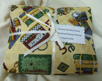 Novelty Prints with Quilting or Sewing Theme, Quilt Quality, Yardage, Fun Fabrics, Hard to Find
