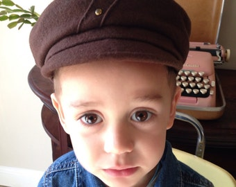 1920's Wool Newsboy Childrens Hat