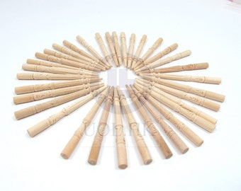 Miniature 1:12 Scale wood carved unfinished spindles for doll house(34 branches)