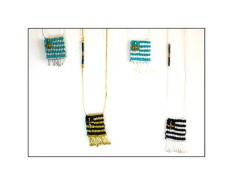 Macrame Greek Flags, blue and turquoise