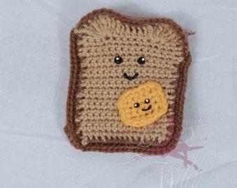 Crochet Toast Zipper Pouch