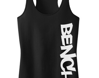 Bench (V106) Racerback Tank Top Black Juniors S-XL
