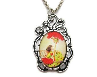 Geranium Flower Fairy Necklace Geranium Flower Necklace Fairy Jewelry Geranium Necklace Geranium Flower Fairy Jewelry Geranium Jewelry