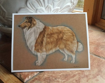 The Collie Blank Notecard