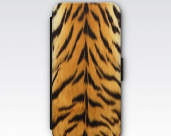 Wallet Case for iPhone 8 Plus, iPhone 8, iPhone 7 Plus, iPhone 7, iPhone 6, iPhone 6s, iPhone 5/5s -  Tiger Stripes Pattern Phone Case