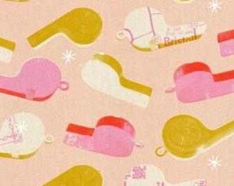 In Stock! Fat Quarter Whistles in Pink by Melody Miller for Cotton and Steel