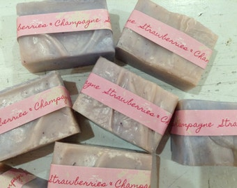Strawberries and Champagne soap.