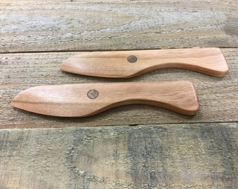 Small Handcrafted Wooden Spreader Set, Small Cheese Spreaders, Butter Spreaders, Wooden Knife, Serving Knife Spreader - Made in Maine - USA