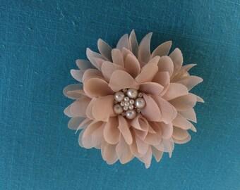 Light Brown Flower Headband