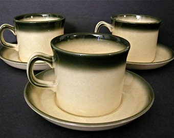 Wedgwood Coffee Cups & Saucers - 3 Sets - Atlantic Pattern