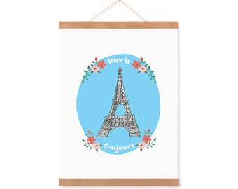 Paris bedroom wall art, eiffel tower decor, Paris always, france lovers poster