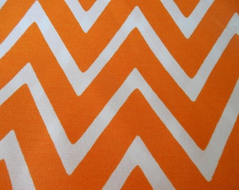 Orange Chevron Outdoor Pillow Cover Zig Zag Patio Porch Decorative Throw Pillow Zipper Clousre All Sizes