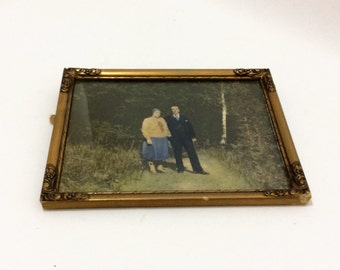 vintage original photography of a sweet Swedish couple great old frame
