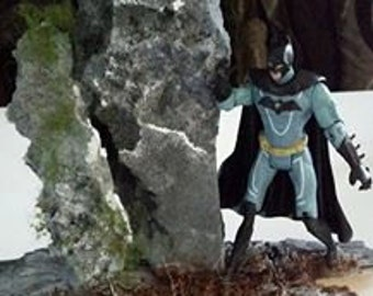 Batman super hero diorama