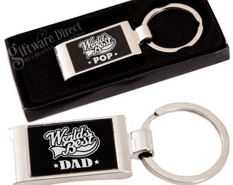 Fathers Day Engraved Keyring Dad Grandpa Gift Boxed Birthday Present Fundraising