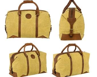 Canvas leather duffle bag leather carry on bag over night bag luggage cabin bag sports bag club bag international travel bag garment bag