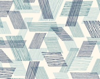 Fabric - Cloud 9 - Threads Warp And Weft Teal - Double gauze fabric