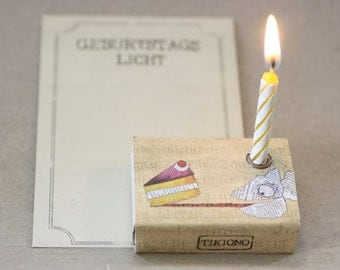 Light box with a chameleon and cake