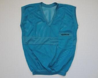 Vintage Acapulco Sleeveless Mesh Pocket Shirt