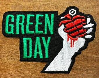 New GREEN DAY American Idiot Rock Heavy Metal Band Logo Patch Iron on Jacket#02
