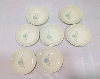 Taylor Smith Taylor BOUTONNIERE Ever Yours Dessert Bowls LOT of 7