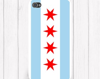 Chicago Flag Personalized Phone Case  iPhone 5 iPhone 5S iPhone 5C iPod Samsung iPhone 4/4S iPhone 6 iPhone6