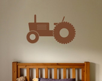Wall Decal, Tractor Wall Sticker, Farm Stickers, Tractor Decals, Boy's Bedroom Decal, Farm Vehicle, Tractor, Digger, Farm Digger