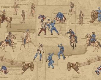 Studio E Memories Of The Civil War 2 Ecru Panel Civil War Reproduction (By the Yard)