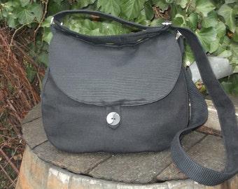 Black shoulder bag,buttoned bag,shoulder bag