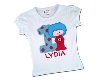 Boy or Girl THING Shirt with Number and Embroidered Name