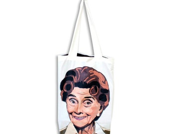 Dot Cotton Tote bag with dotty lining. Superstrong, handmade, and exclusive to ThatAgnes!