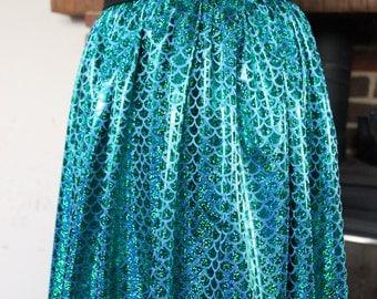 Green Mermaid Scale Skirt - Elasticated Waist