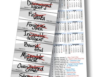 INSPIRED BOOKMARK CALENDAR- #statusupdated