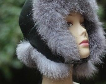 Children's hat real fur boys beanie childrens winter hat childrens beanie fur hat baby fur hat Handmade Children's hats gift for a child