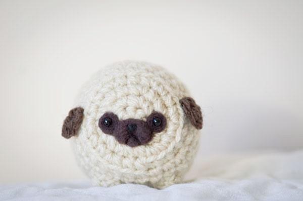 Mystery Pug Cute Amigurumi Kawaii Crochet Pug