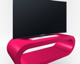 Pink Gloss TV Stand - Large Hoop