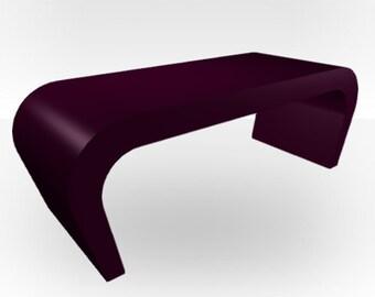 Purple Gloss Coffee Table - Wedge