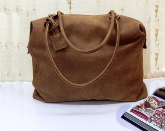 Leather weekender bag womens weekender bag brown leather