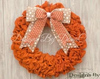 Tennessee Football Wreath, Vols Wreath, College Football Wreath